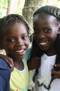Youslie (L) Belony (R)_Gilgeau Haiti_June 2013