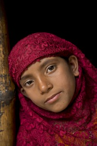 A young girl in Dhaka, Bangladesh.