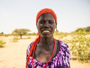 A woman in South Sudan.