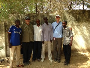 World Concern staff, donors, and Michael (far right) in Chad.