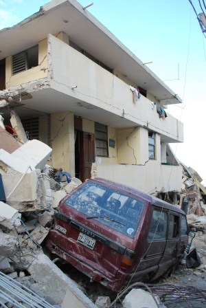 Destruction after the earthquake shook Port-au-Prince on Jan. 12, 2010.