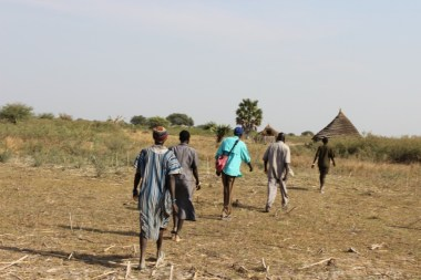 Walking the last stretch to the homes I visited in Mayen.