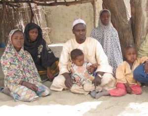 Aisha and her family fled Boko Haram attacks in their home town. They are waiting to be reunited with their two boys.