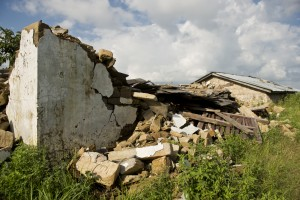 While some homes still stood, others lay flat. But all were unlivable.