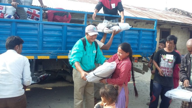 Excited families rush to World Concern distribution points, grateful for your help when they needed it the most.