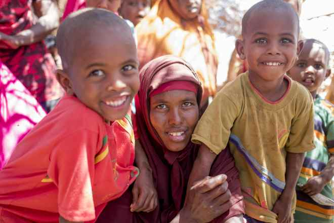 children in Somalia receive emergency nutrition