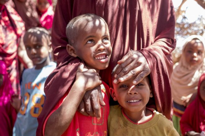 two young boys in rural Somalia