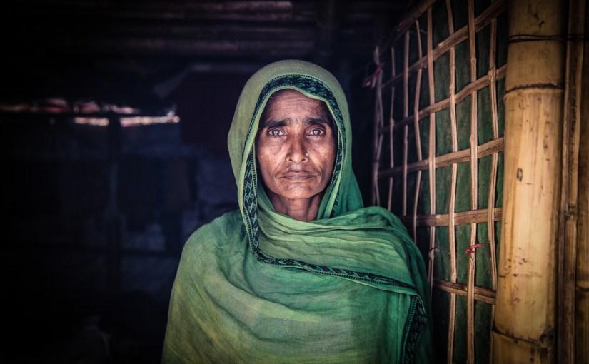 Rohingya refugee woman in a camp in Bangladesh