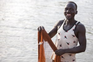 Last minute holiday gift ideas fisherman in South Sudan.