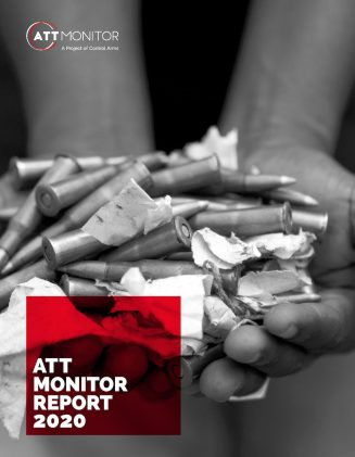 2020 ATT Monitor Report, with a photo of two cupped hands holding bullets