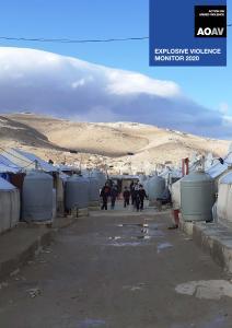 Cover of AOAV's Explosive Violence Monitor 2020. Credit: AOAV, 2021.