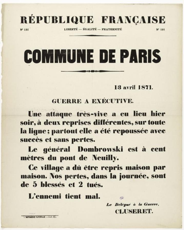Fille De 13 Ans Qui Se Doigt : fille, doigt, Avril, 1871,, Guerre, Continue,, Aussi, L'Humanité