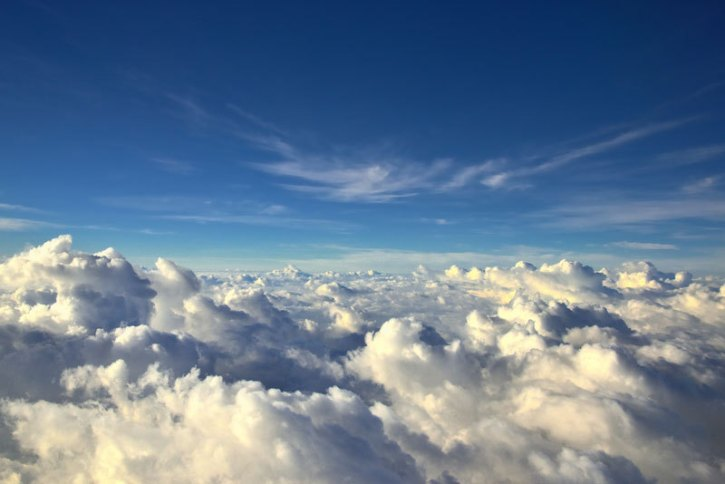 10 - 10 You could ride an endless sea of clouds with a window seat