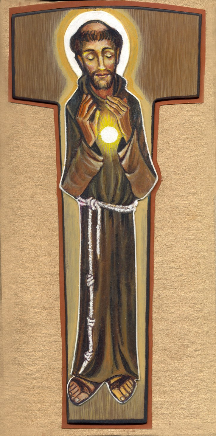 St Francis, the Tau cross, and the Eucharist