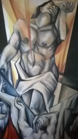A painting, oil on acrylic, from Sister Mary Thomas' studio.