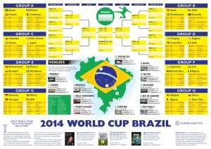 2014 World Cup Wallchart