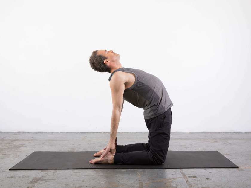 Camel Pose: Yin Yoga poses for the shoulders