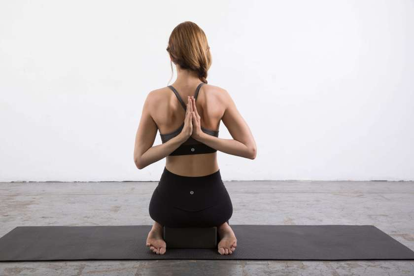 Reverse Prayer Pose: Yin Yoga poses for the shoulders