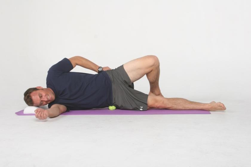 Use of a tennis ball for self-myofascial release