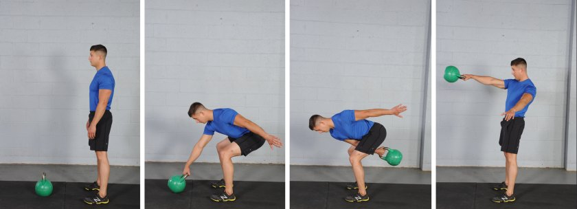Single Swing, kettlebell exercises for fat loss
