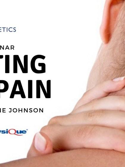 Treating neck pain webinar Jane Johnson
