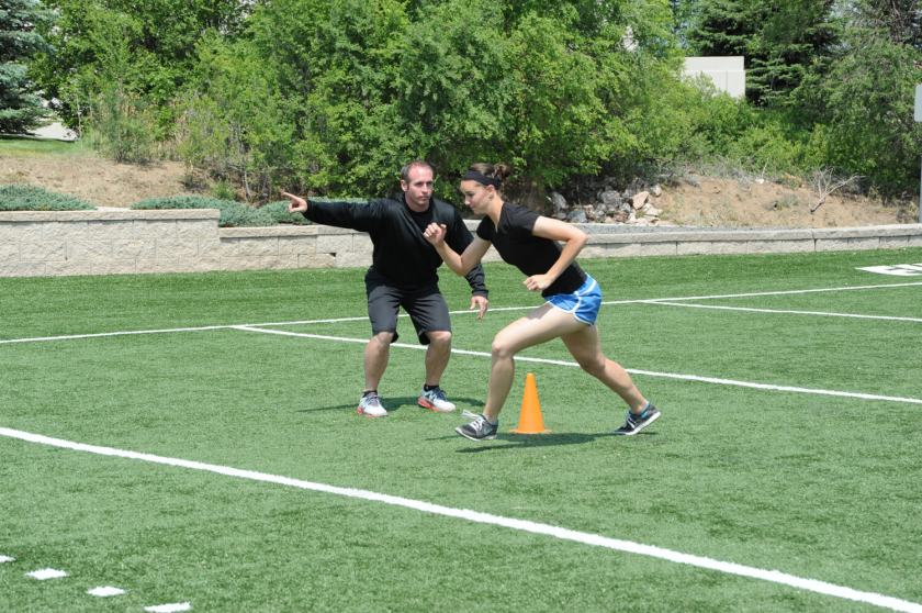 Run to Cone and Cut: Agility drills for football