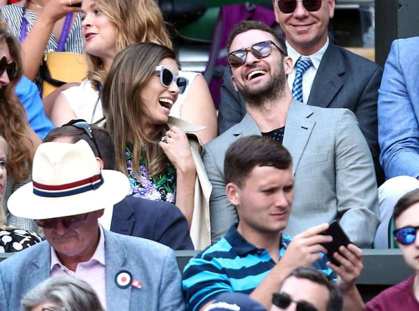 justin-timberlake and jessica-biel at wimbledon
