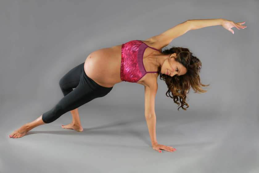 Desi Bartlett Pregnancy Yoga Poses
