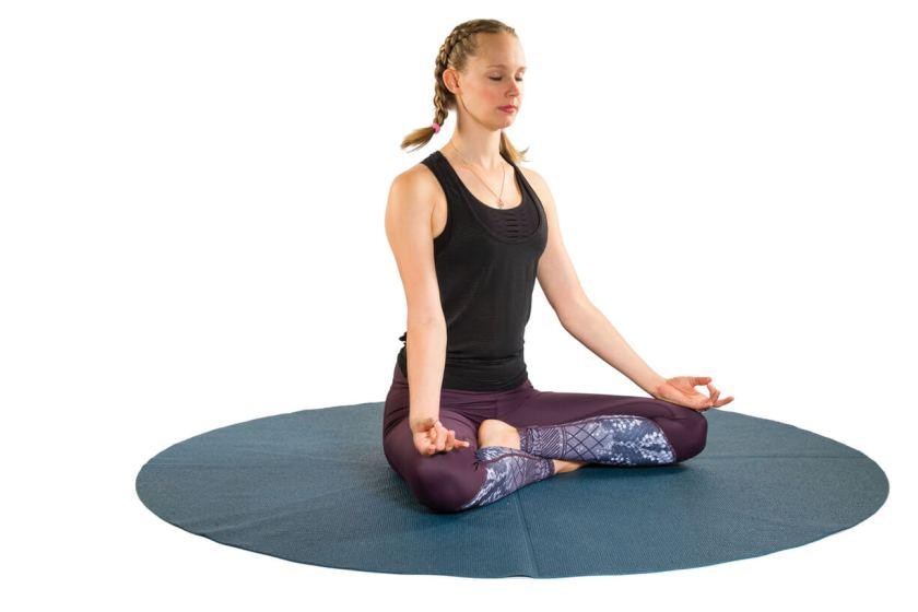 Pregnancy Yoga Poses - Easy pose