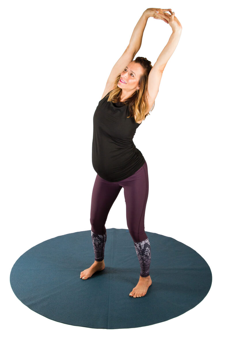 Pregnancy Yoga Poses - Standing Lateral Stretch