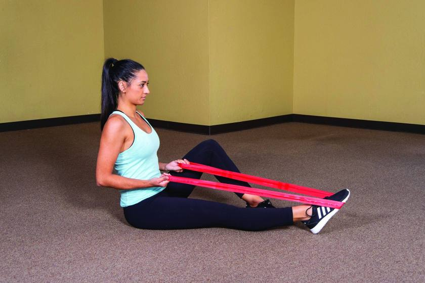 Resistance band workouts female cover image