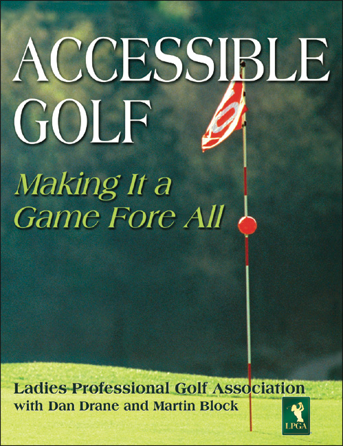 accessible golf book cover