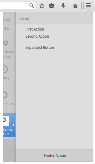 Panelview opened as subview in the menu panel