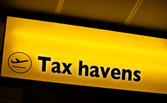 tax haven superimposed on airport sign