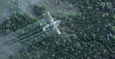 C130 spraying defoliant in Vietnam