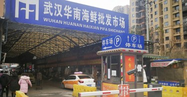 A fish market in Wuhan, China, from where people have been confirmed to have been infected with a new coronavirus.