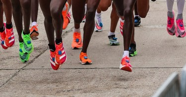marathon runners wearing the new super shoes