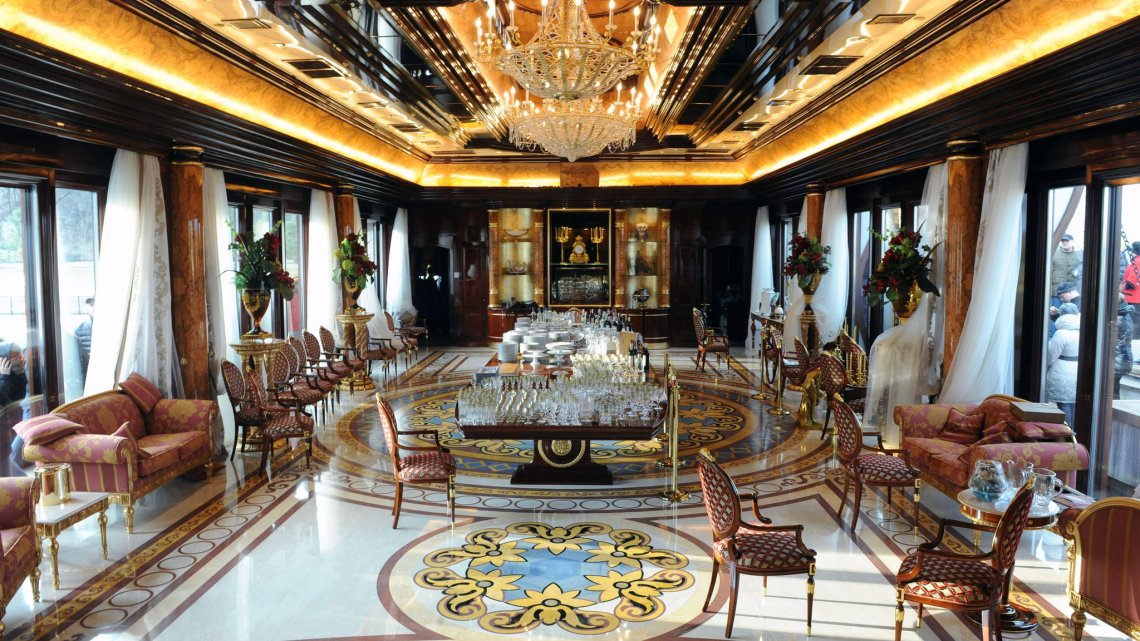 the palatial compound of Viktor Yanukovych, the former president of Ukraine, was opened to the public after he fled Kiev