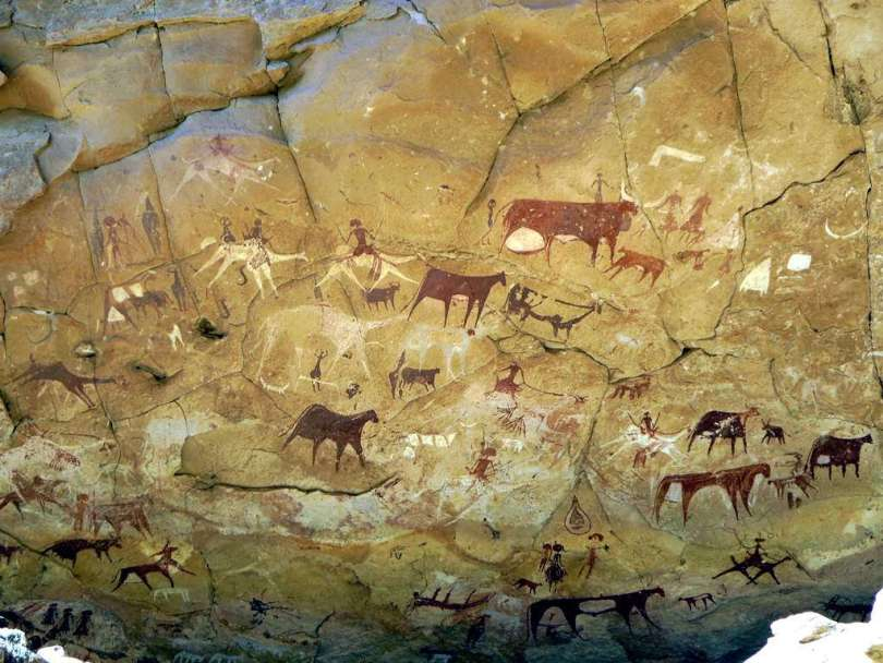 prehistoric rock painting in northeastern Chad