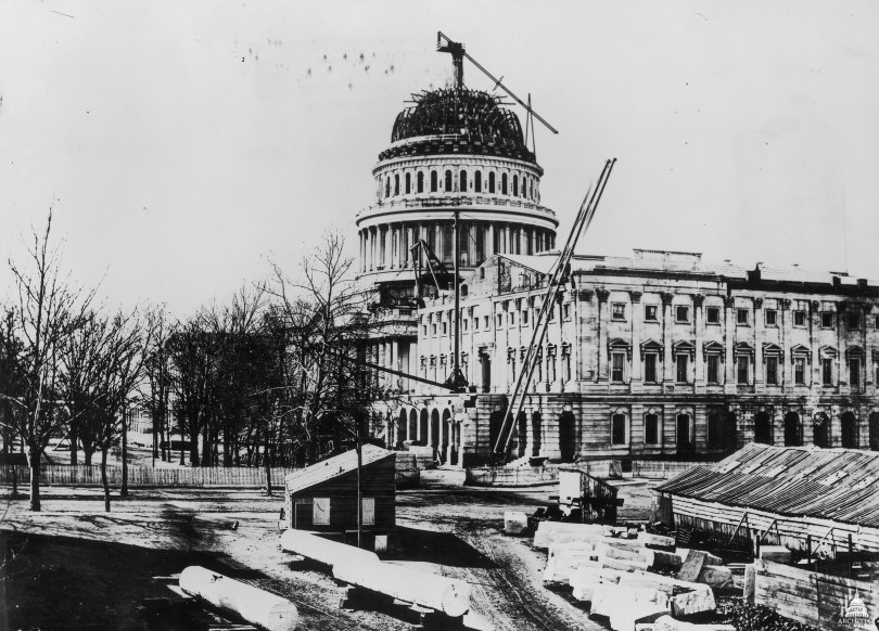 image of the construction of Capitol Hill
