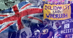 collage of images inc BLM and Union Jack