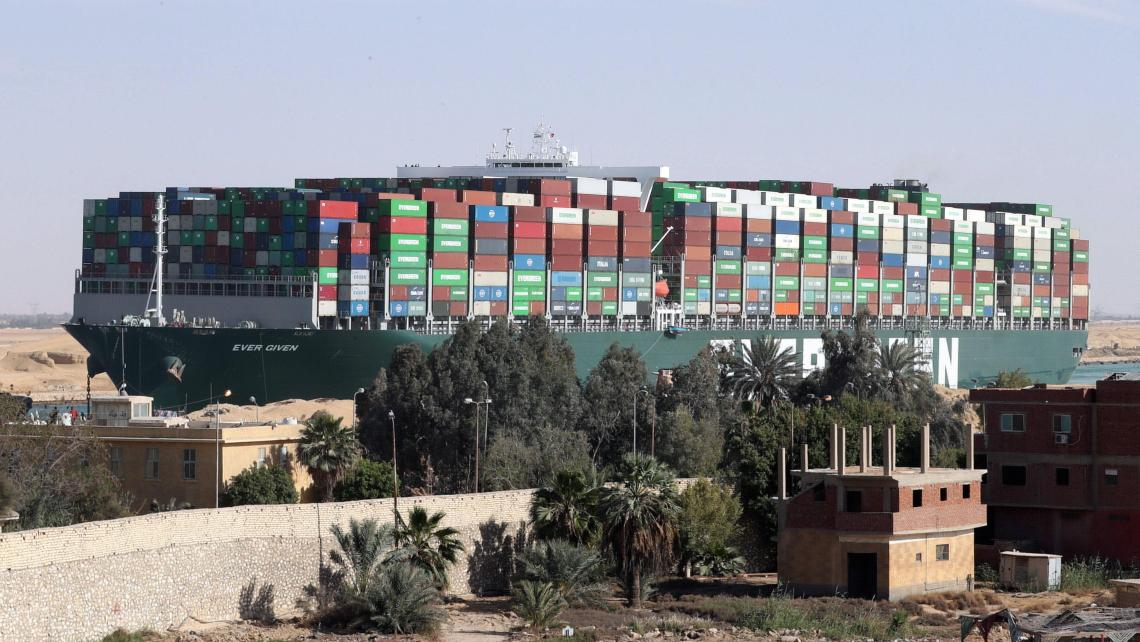 Ever Given Container ship in the Suez Canal