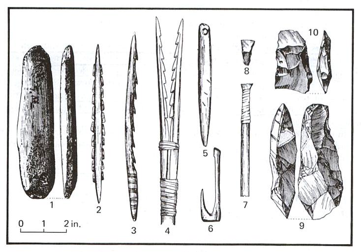 Tools around 8,000 BC
