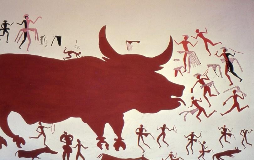 Catal Hüyük villihärkä seinämaalaus