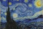 Tähtikirkas yö. Vincent van Goghin öljyvärimaalaus vuodelta 1889.
