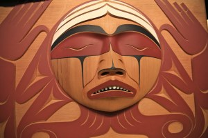Aboriginal carving for the truth and reconciliation commission.