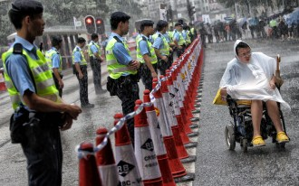 """Protester in a Wheelchair"" - David Wong - South China Morning Post"