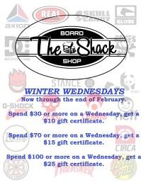 Winter Wednesdays promo