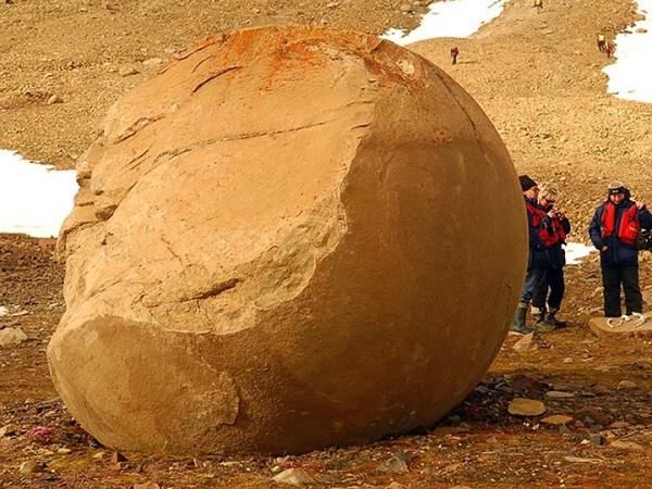 Mysterious Stone Spheres Arctic Island 11