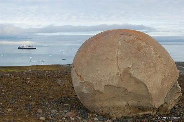 Mysterious Stone Spheres Arctic Island 9